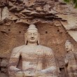 China, shanxi: Stone carving of Yungang grottoes — Stock Photo