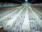 The famous terracotta warriors of Xian — Foto de Stock
