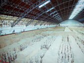 The famous terracotta warriors of Xian — Stock Photo