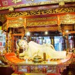 Buddha statue at Jade Buddha temple in Shanghai, China - Foto Stock