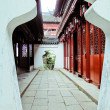 Entrance to the temple, china — Stock Photo