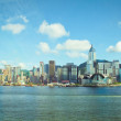 Stock Photo: Hongkong skyline in victoria harbour