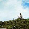 Giant Buddha. Po Lin Monastery in Hong Kong, Lantau Island — Stock Photo