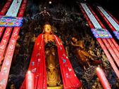 Buddha image at the Jade Buddha Temple in Shanghai, China. — Stock Photo