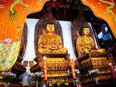 Buddhist Statues Jade Buddha Temple Jufo Si Shanghai China Most famous buddhist temple in Shanghai — Stock Photo