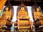 Buddhist Statues Jade Buddha Temple Jufo Si Shanghai China Most famous buddhist temple in Shanghai — Foto de Stock