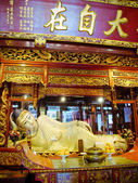 Buddha statue at Jade Buddha temple in Shanghai, China — Zdjęcie stockowe