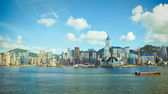 Hongkong skyline in victoria harbour — Stock Photo