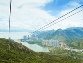 Hong Kong Cable Car at Ngong Ping , Hong Kong — Stock Photo