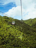 Mountains of Honk Kong. View from cable car — Stock Photo