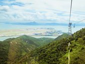 View from cable car. Mountains of Honk Kong — Stock Photo