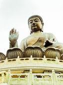 Staty av buddha i po lin-kloster. närbild — Stockfoto