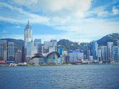 Chiny, hong kong island nabrzeża budynków — Zdjęcie stockowe