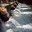 Holy spring water in tirta empul - Stock Photo