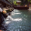 Holy spring water in tirta empul — Stock Photo