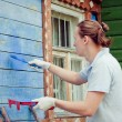 Man painting a house - Stock Photo