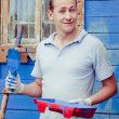 Man with tools for painting — Stock Photo