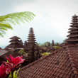 Traditional balinese architecture. The Pura Besakih temple. - 图库照片