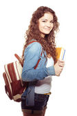 Smiling student female — Stock Photo