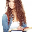 Smiling student woman — Stock Photo