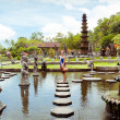 Woman in Tirtagangga water palace on Bali island, Indonesia  — Stock Photo