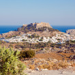 View of the town of Lindos, Rhodes Island, Greece — Stock Photo #27416413