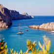Greek islands - Rhodes, Lindos bay — Stock Photo #27416471