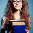 Stock Photo: Smiling student woman