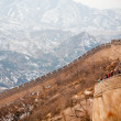 Chinese Great Wall in winter — Stock Photo