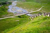 Utsikt över berg flod — Stockfoto