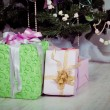 Presents under the Decorated Christmas tree — Stock Photo