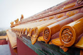 Chinese yellow temple roof Summer palace — Stock Photo