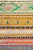 Kleurrijke decoratie in tempel — Stockfoto