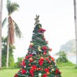 Christmas Tree On Beautiful Tropical Background — Stock Photo #37394235
