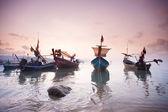 Plaj tropikal günbatımı — Stok fotoğraf