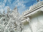 Famous Thailand temple or grand white church Call Wat Rong Khun northern Thailand — Stock Photo