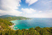 Aerial view of the beach tropical island — Stock Photo