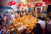 PHNOM PENH, CAMBODIA - 31 JANUARY 2014 People celebrate Chinese — Stock Photo