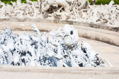 Detail of Wat Rong Khun (White temple) in Chiang Rai province — Stock Photo