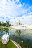 Wat Rong Khun (White temple) in Chiang Rai province — Stock Photo