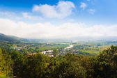 Village Thaton in the Thailand, airview — Stock Photo