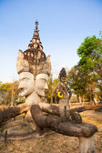 Ancient architecture  (Buddha park) in  Thailand — Stock Photo