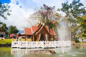 Temple in Thailand near Mae Hon Song — Foto de Stock