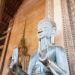 VIENTIANE, LAOS - FEB 2: Bronze Buddha statue at the Haw Phra Ka — Stock Photo