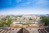 View of Vientiane from Victory Gate Patuxai, Laos, Southeast Asi — Stock Photo
