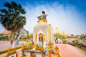 Statue of the King Chao Anouvong,  the last monarch of the Lao K — Stok fotoğraf
