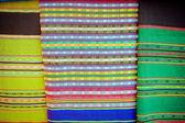 Lao handmade cotton and Silk scarf  near plateau Bolaven — Stok fotoğraf