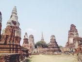 świątynia wat mahathat w zabytkowym parku ayutthaya — Zdjęcie stockowe