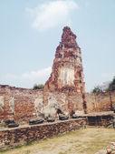 Temple  wat Mahathat in Ayutthaya historical park — Photo