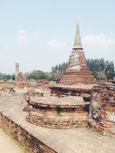 Temple  wat Mahathat in Ayutthaya historical park — Stock Photo